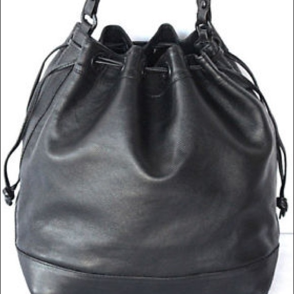 4f2bf9e26966 Bottega Veneta Handbags - Vintage Bottega Veneta black leather bucket bag